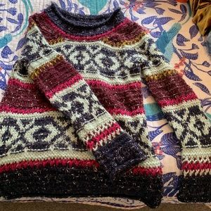 Free People Fair isle Permafrost chunky knit